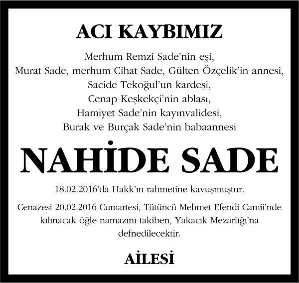 NAHİDE SADE