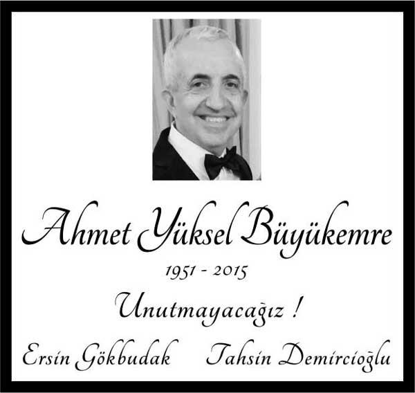 Sn. Ahmet Yüksel Büyükemre Sözcü Gazetesi Anma ilanı