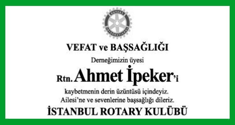 Ahmet İpeker - Hürriyet Başsağlığı İlanı