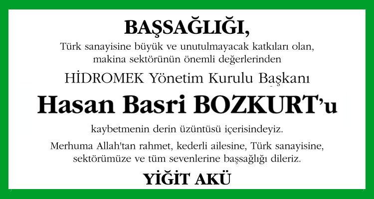 Hasan Basri Bozkurt - Hürriyet Başsağlığı İlanı