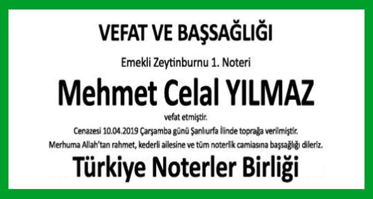 Mehmet Celal Yılmaz - Hürriyet Başsağlığı İlanı