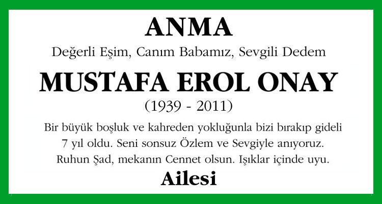 Mustafa Erol Onay - Hürriyet Anma İlanı