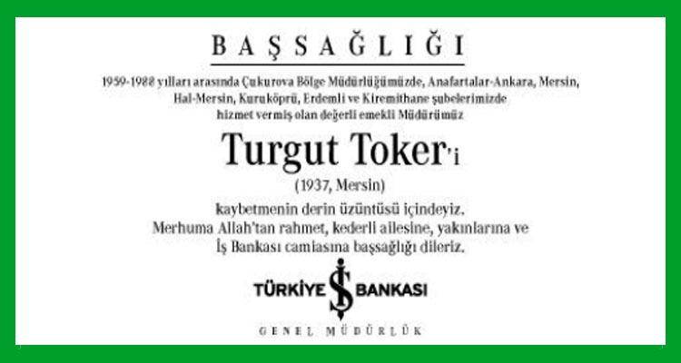 Turgut Toker - Hürriyet Başsağlığı İlanı