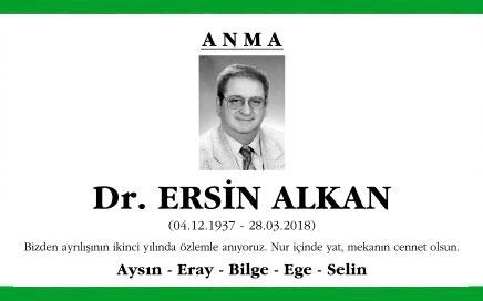 Dr. Ersin Alkan Anma İlanı